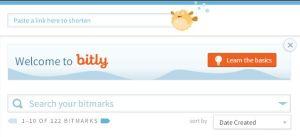 Hier fügen Sie den Link zum Verkürzen bei bitly.com ein