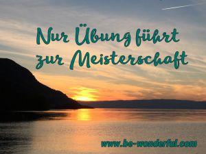 Nur Übung macht den Meister - auch im Selfpublishing mit Sonnenuntergang