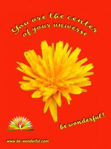 Es geht immer um dich als Autor, als Autorin - du bist der Mittelpunkt, eine Blume in der Mitte