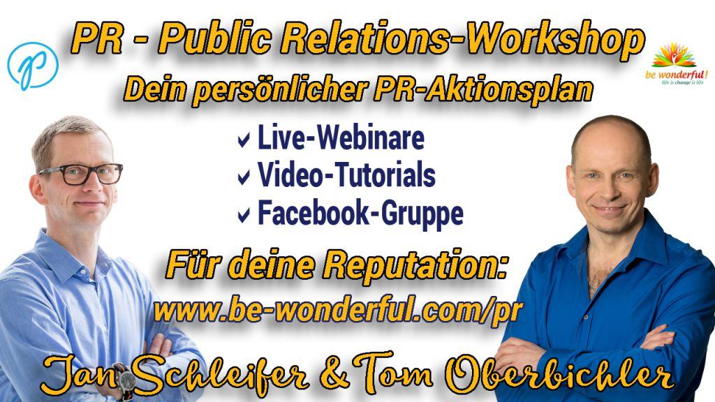 PR-Workshop mit Jan Schleifer und Tom Oberbichler