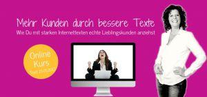 Banner Onlinekurs bessere Texte mit Anja Strassburger