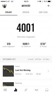 4001 km Laufen - eine Gewohnheit ist geschaffen