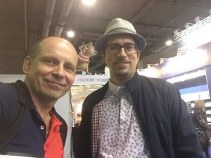 Autorentreff Tom Oberbichler und Daniel Morawek frankfurter Buchmesse