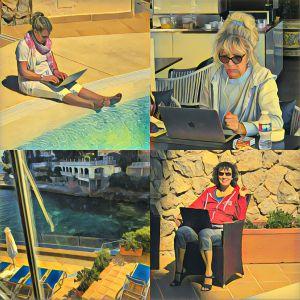 Drei Frauen schreiben auf Mallorca - Schreibcamp