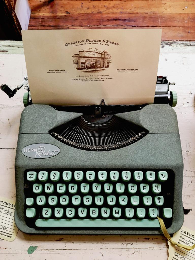 Schreibmaschine fürs Schreibcamp