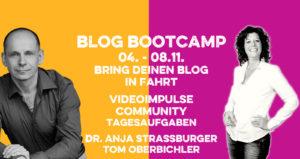 Tom Oberbichler und Anja Strassburger Bloggen im Blog-Bootcamp