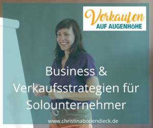 Christina Bodendieck - Verkaufen auf Augenhöhe